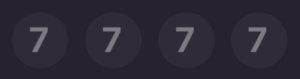 抽選番号7777